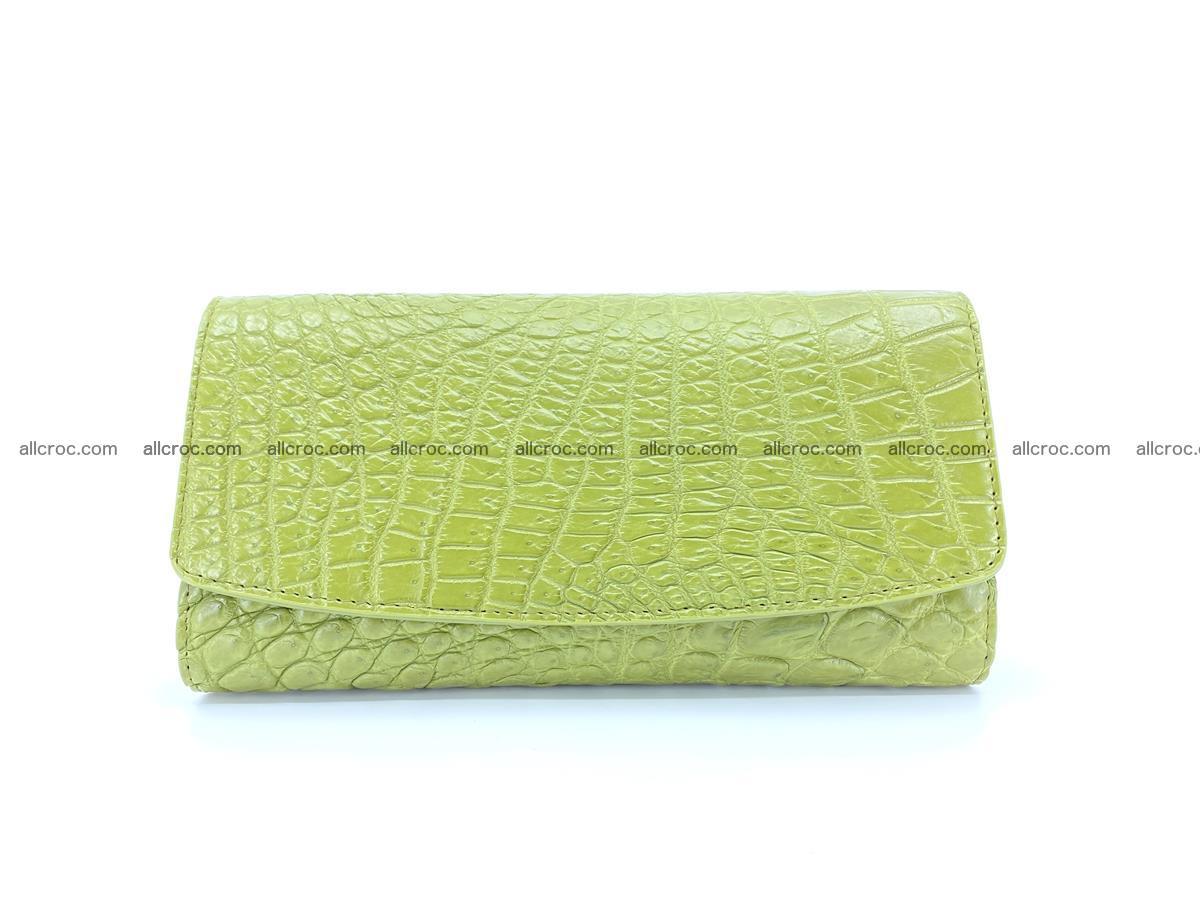 Crocodile leather long wallet trifold 616 Foto 0