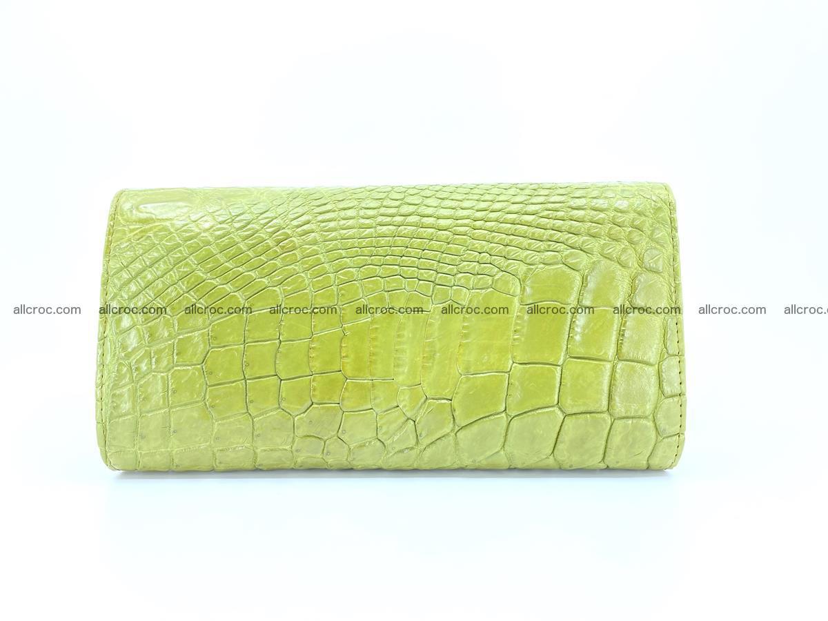 Crocodile leather long wallet trifold 616 Foto 1