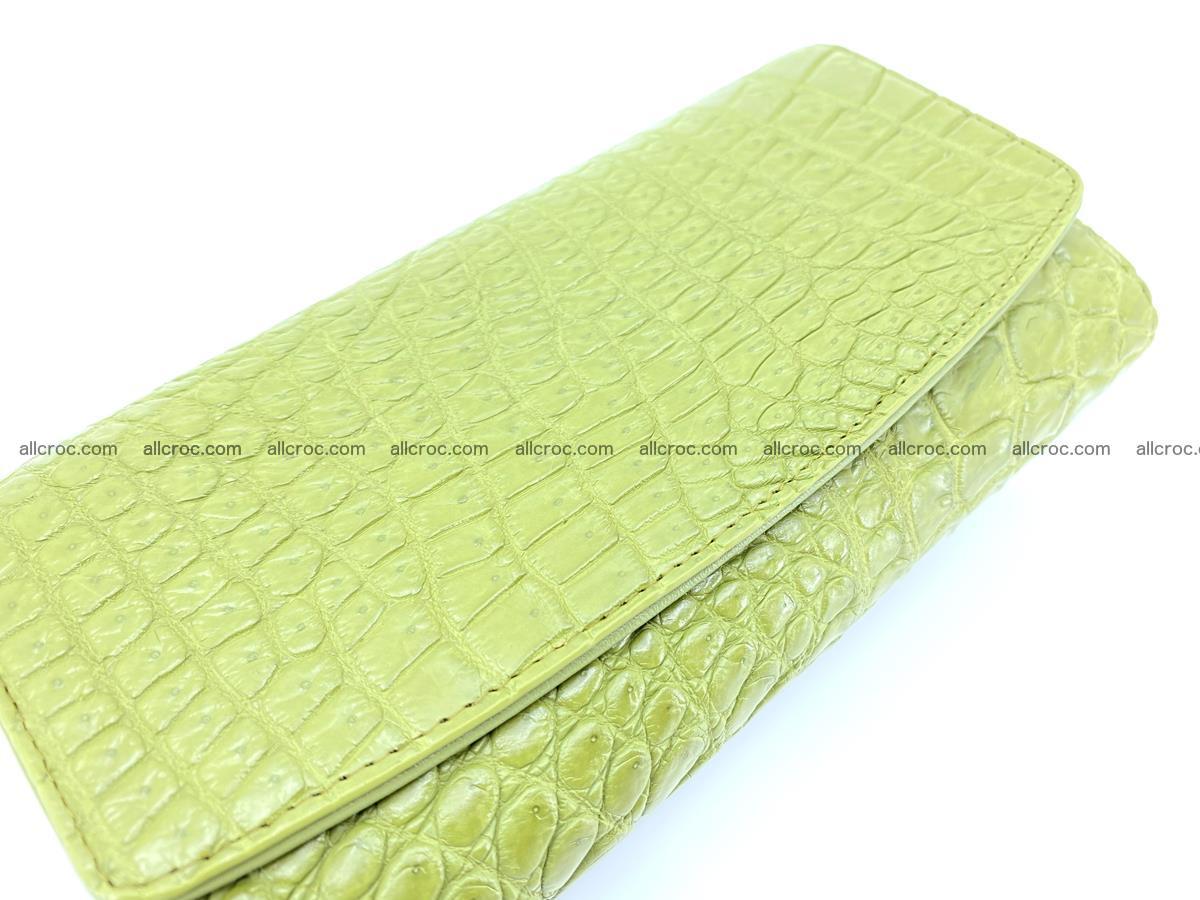 Crocodile leather long wallet trifold 616 Foto 2