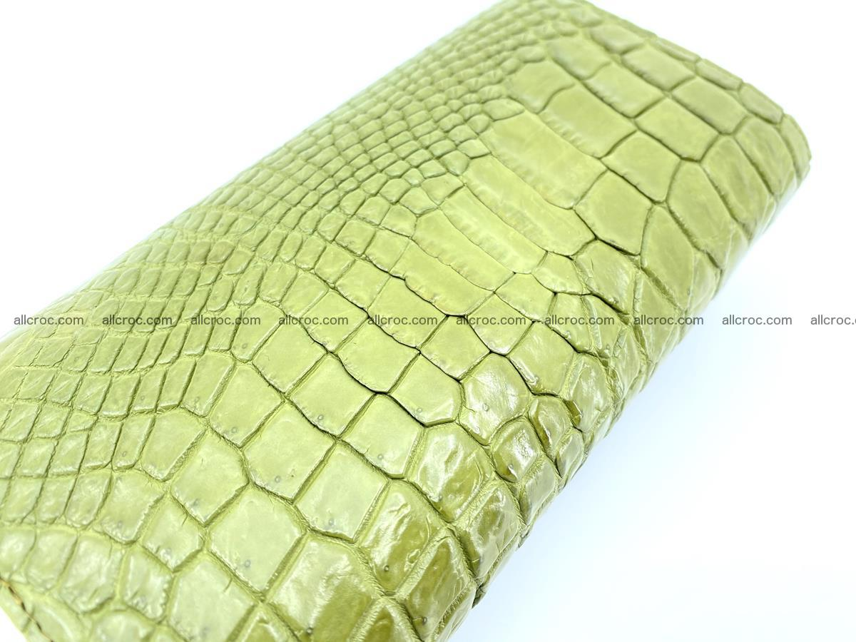 Crocodile leather long wallet trifold 616 Foto 3