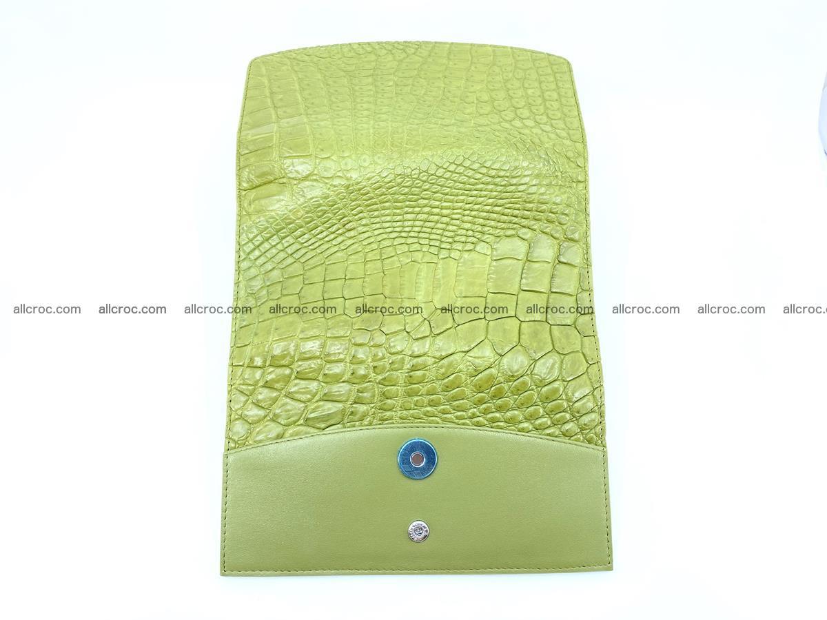 Crocodile leather long wallet trifold 616 Foto 8