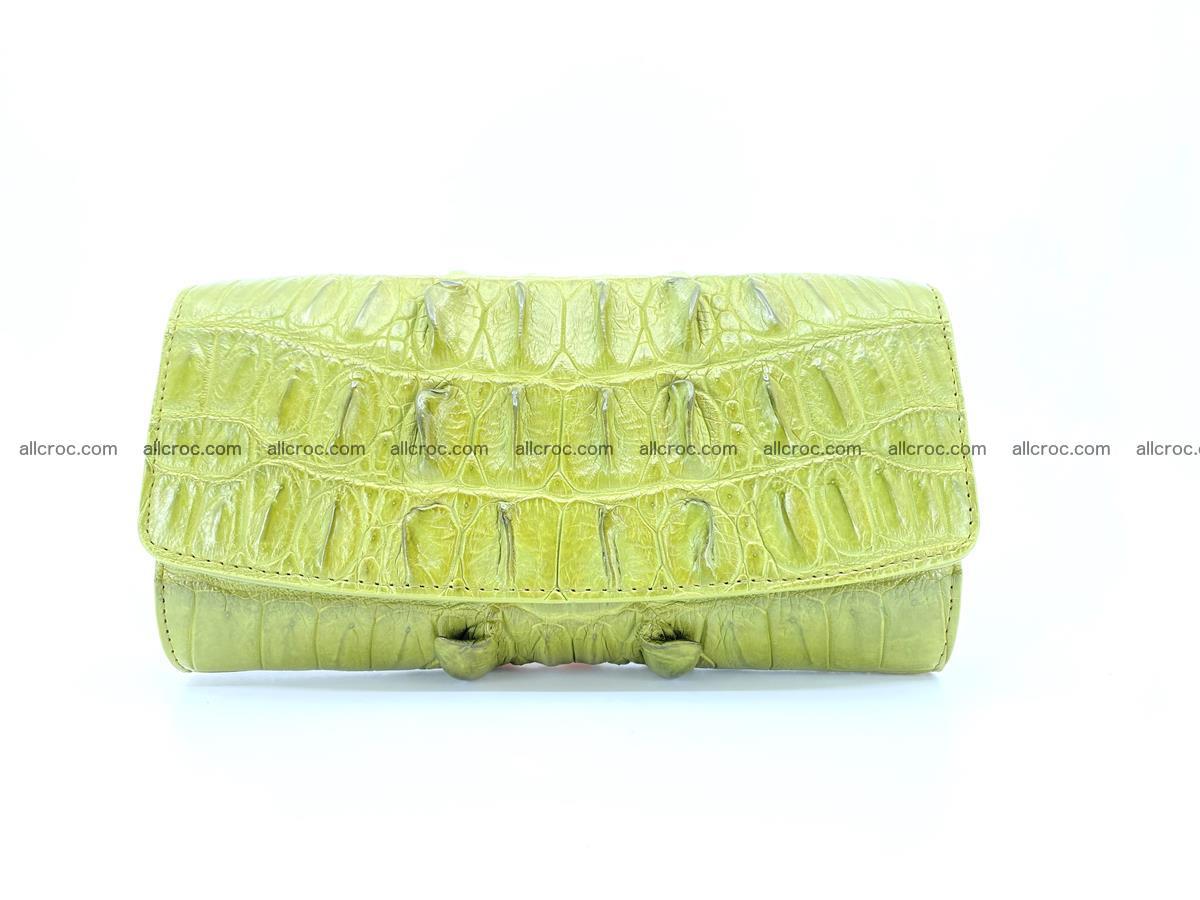 Crocodile leather long wallet trifold 617 Foto 0