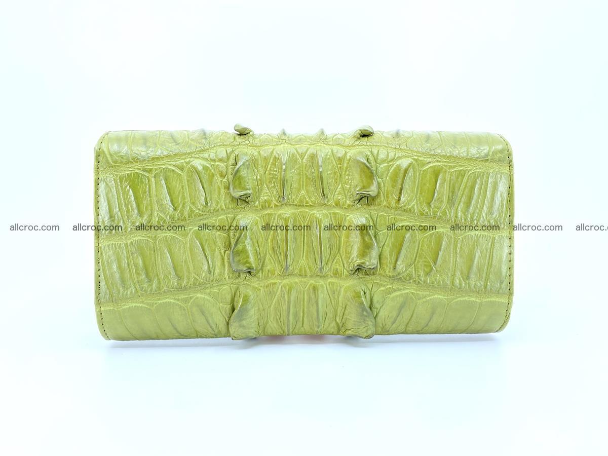 Crocodile leather long wallet trifold 617 Foto 1