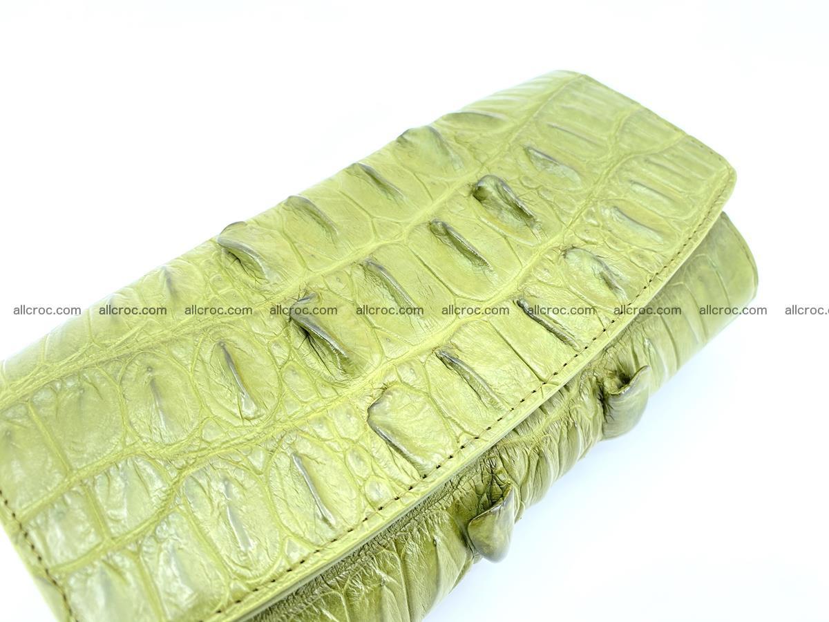 Crocodile leather long wallet trifold 617 Foto 2