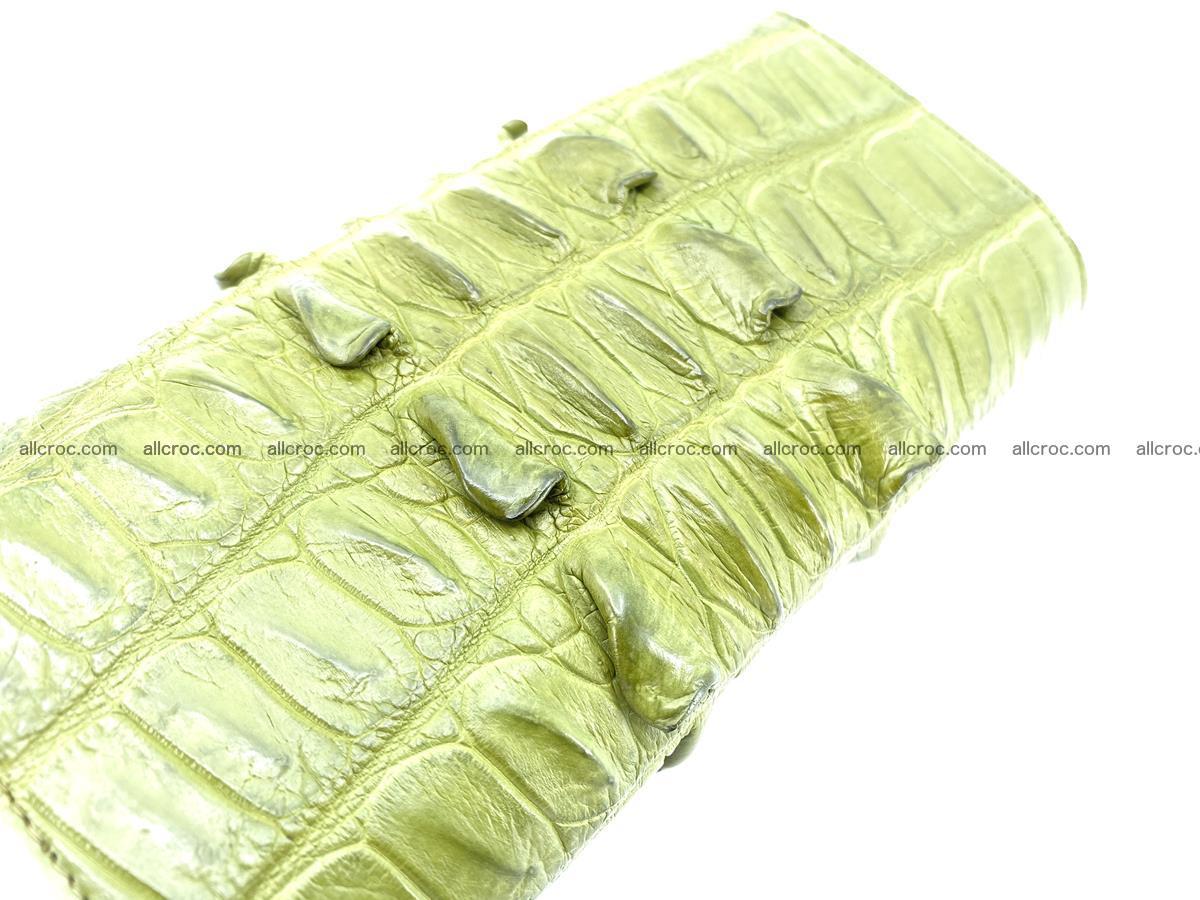Crocodile leather long wallet trifold 617 Foto 3
