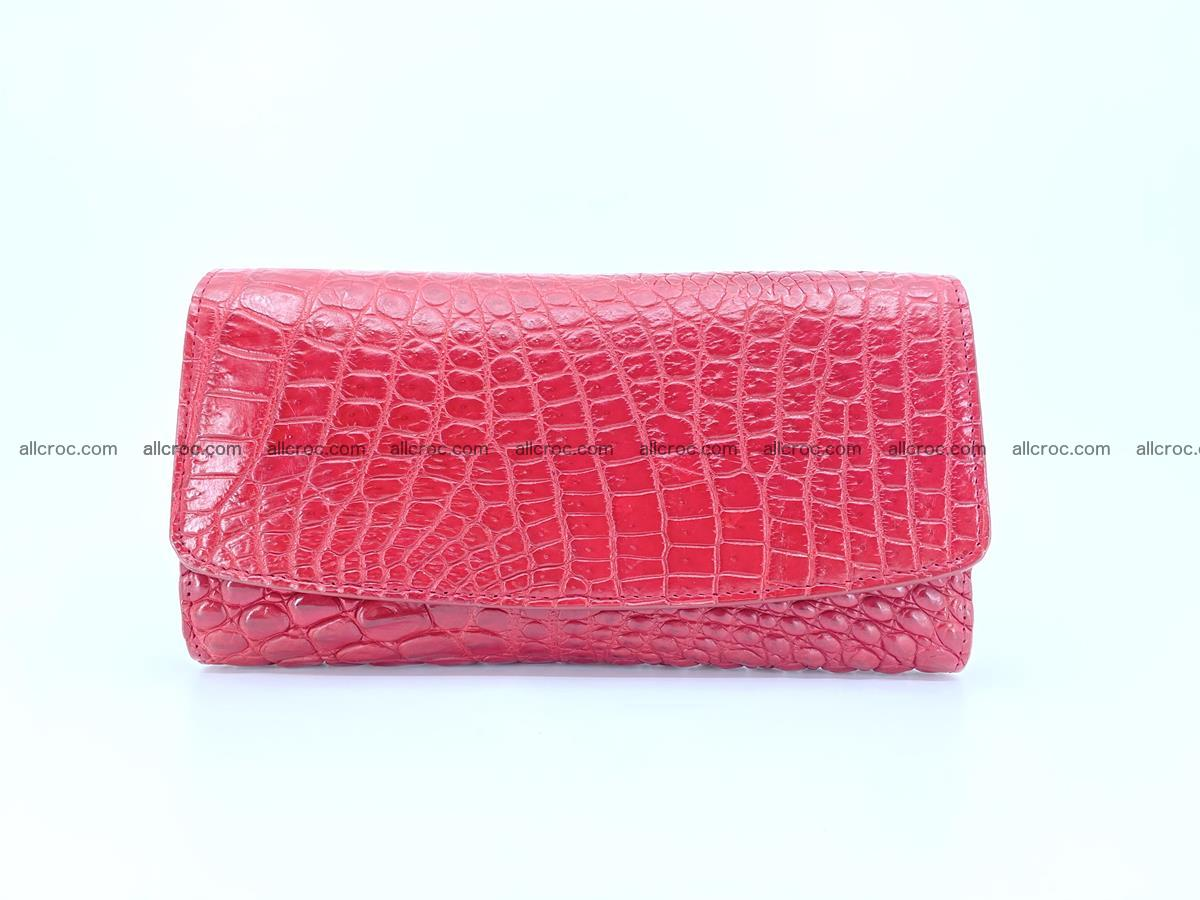 Crocodile leather long wallet trifold 615 Foto 0