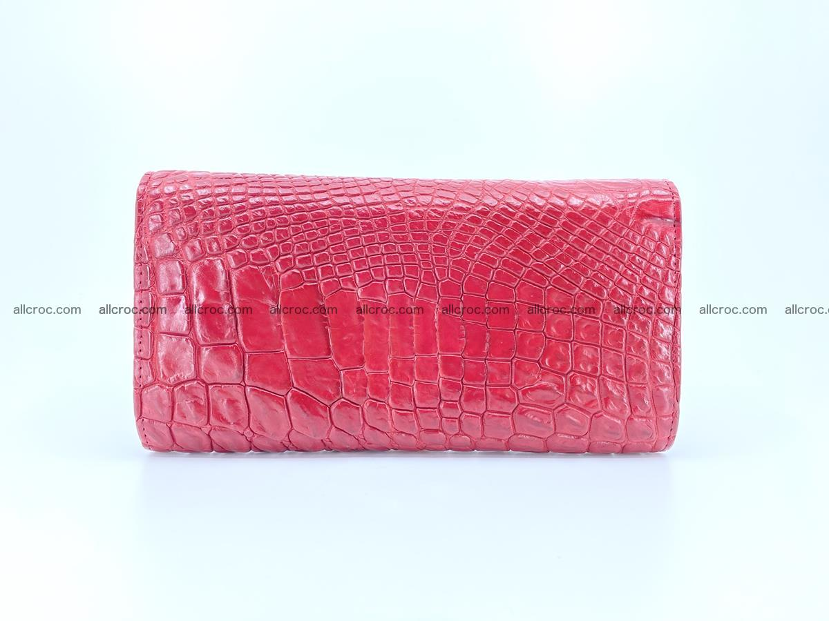 Crocodile leather long wallet trifold 615 Foto 1