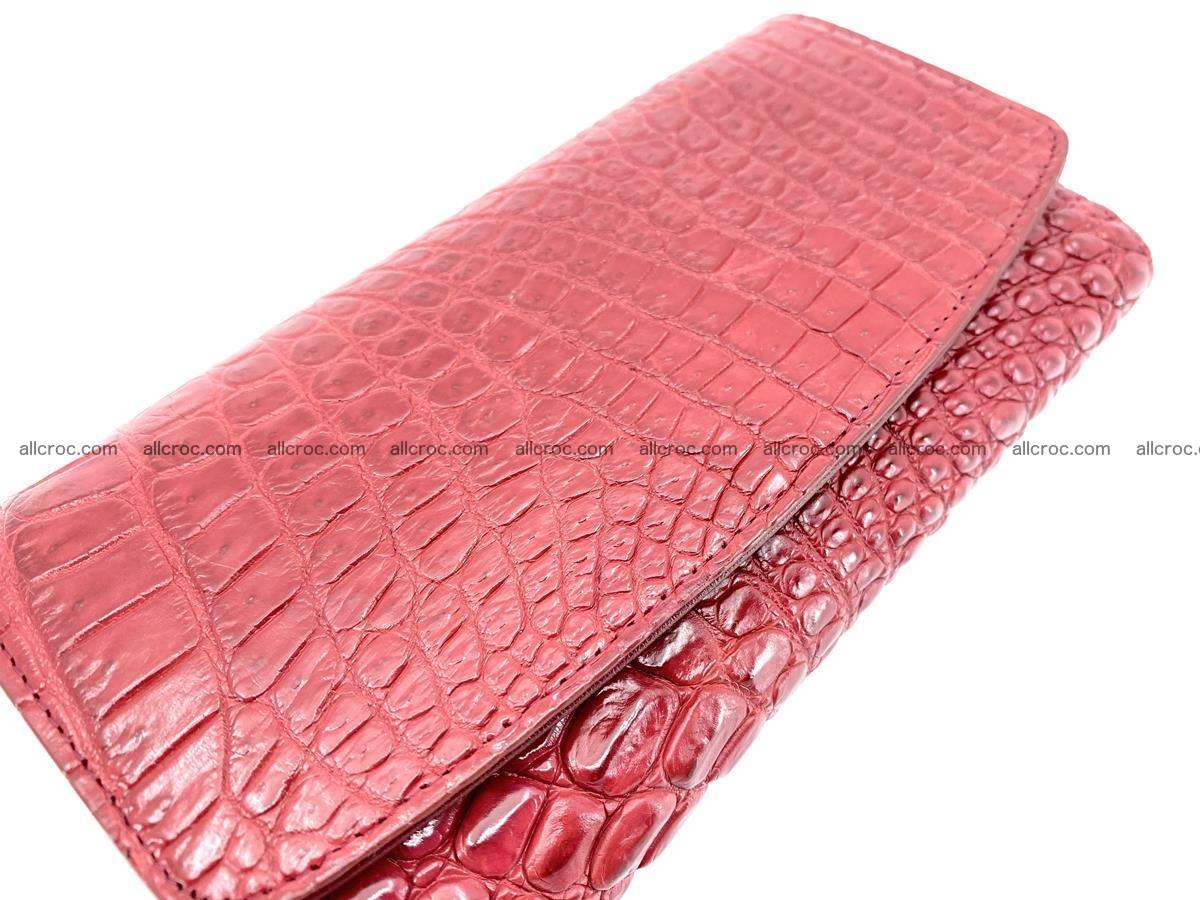 Crocodile leather long wallet trifold 615 Foto 2