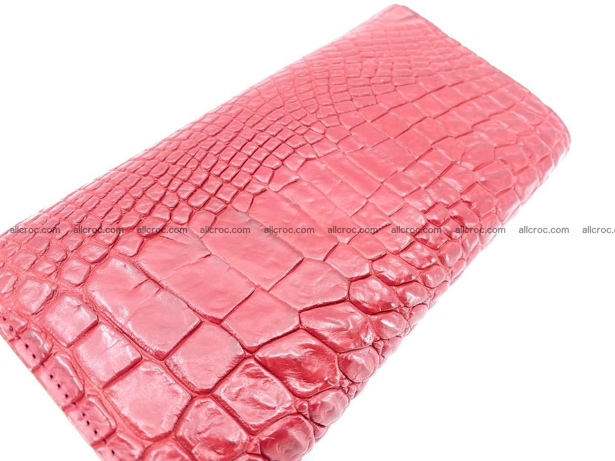 Crocodile leather long wallet trifold 615 Foto 3