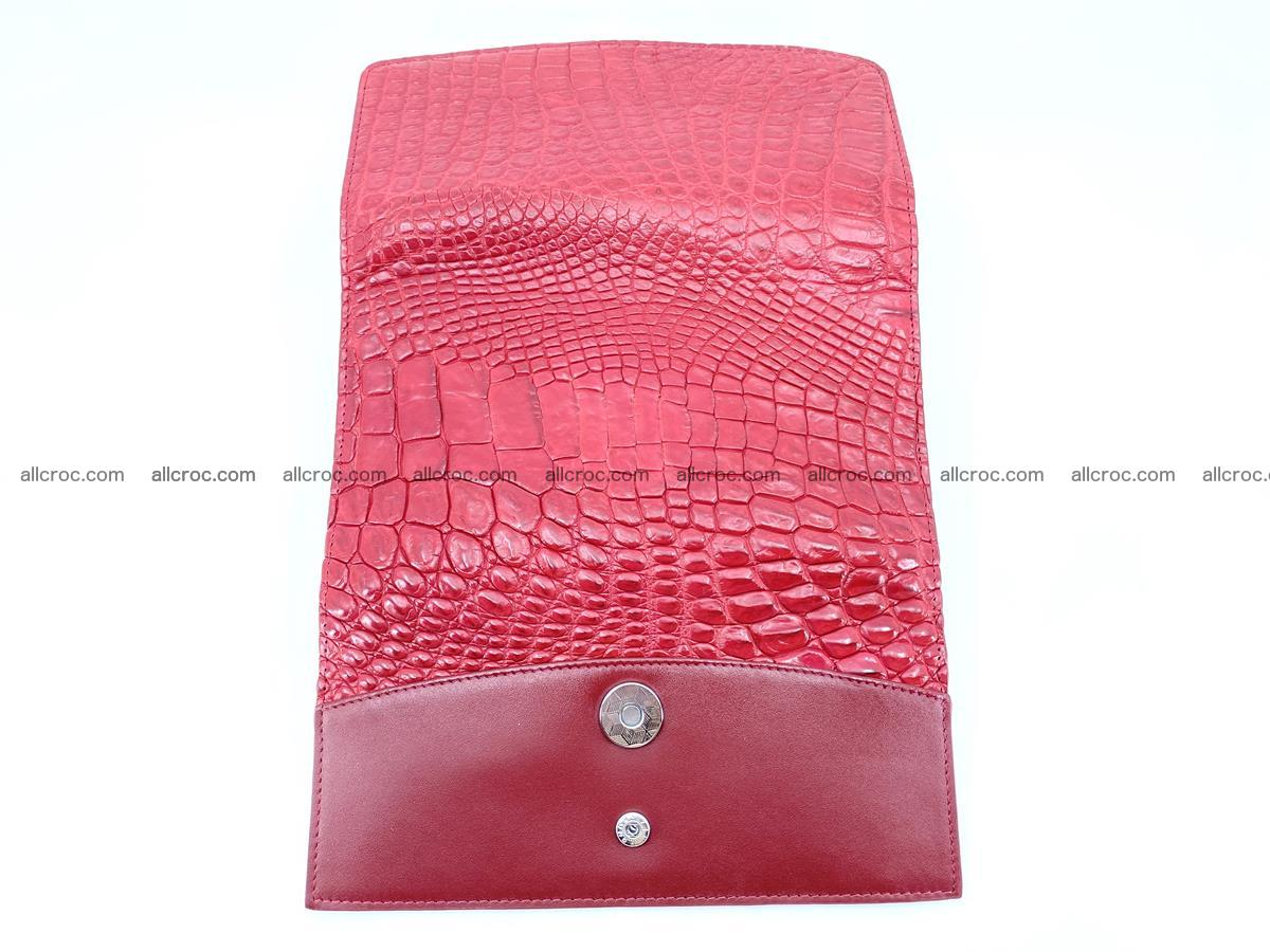 Crocodile leather long wallet trifold 615 Foto 9