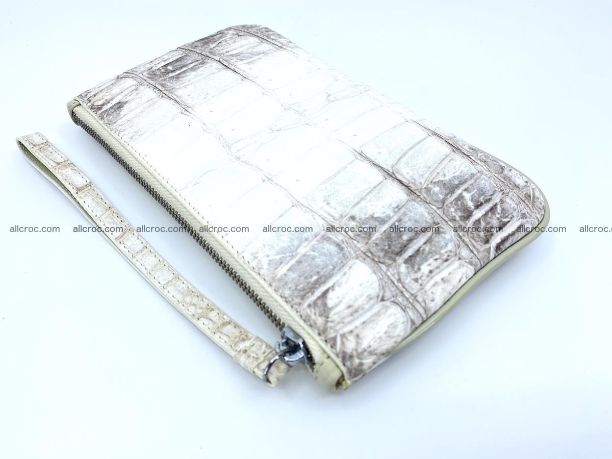 Crocodile skin purse with zip 670 Foto 1