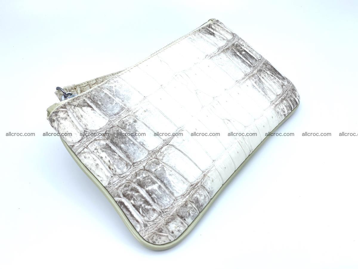 Crocodile skin purse with zip 670 Foto 0