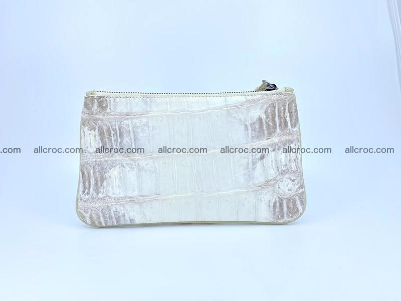 Crocodile leather purse with zip 670