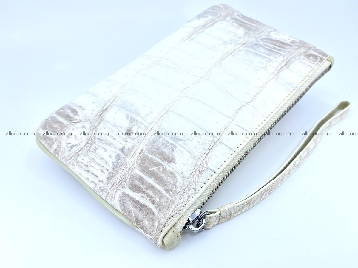 Crocodile skin purse with zip 670 Foto 5