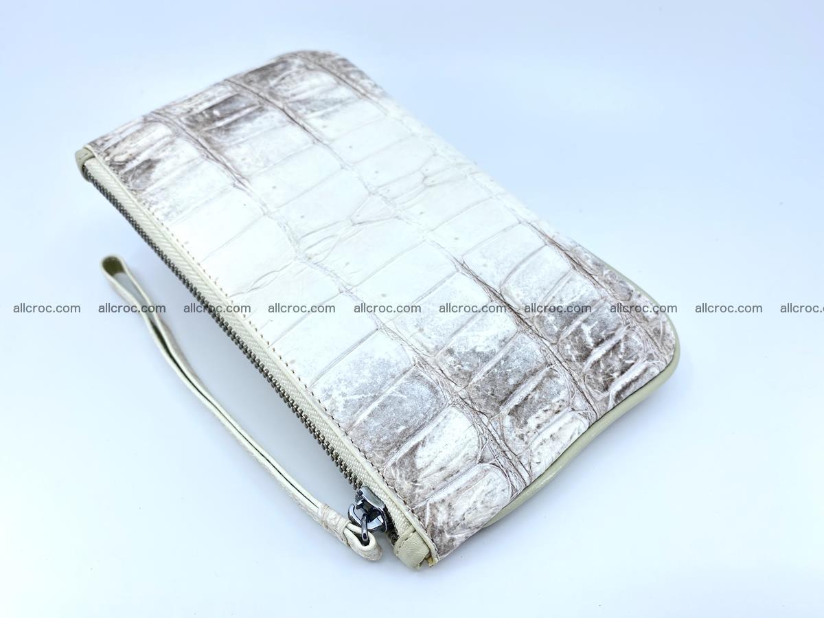 Crocodile skin purse with zip 670 Foto 4