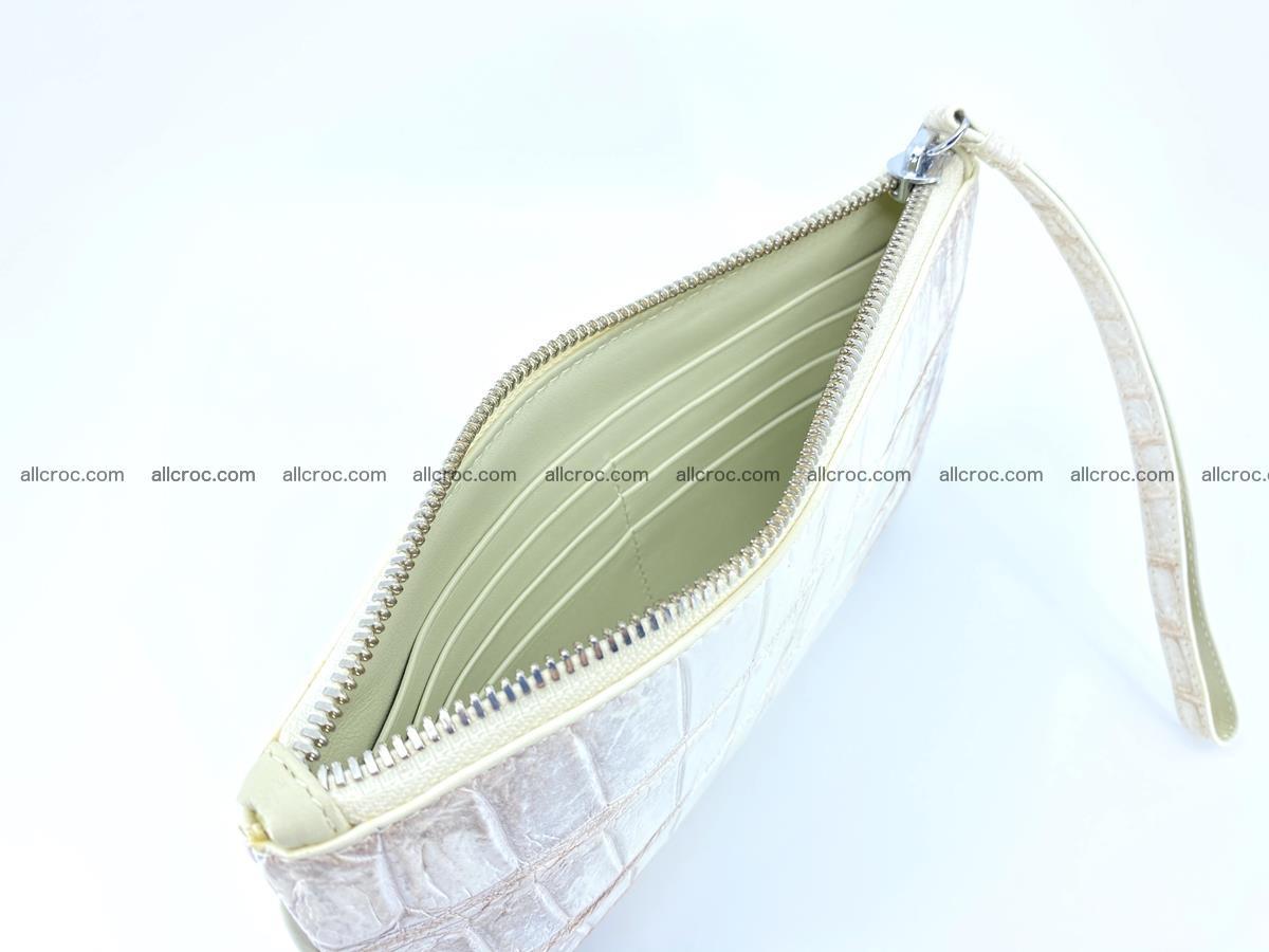 Crocodile skin purse with zip 670 Foto 8