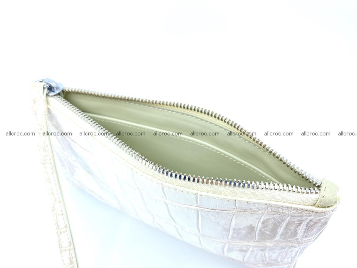 Crocodile skin purse with zip 670 Foto 6