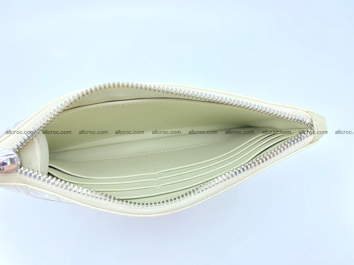 Crocodile skin purse with zip 670 Foto 7