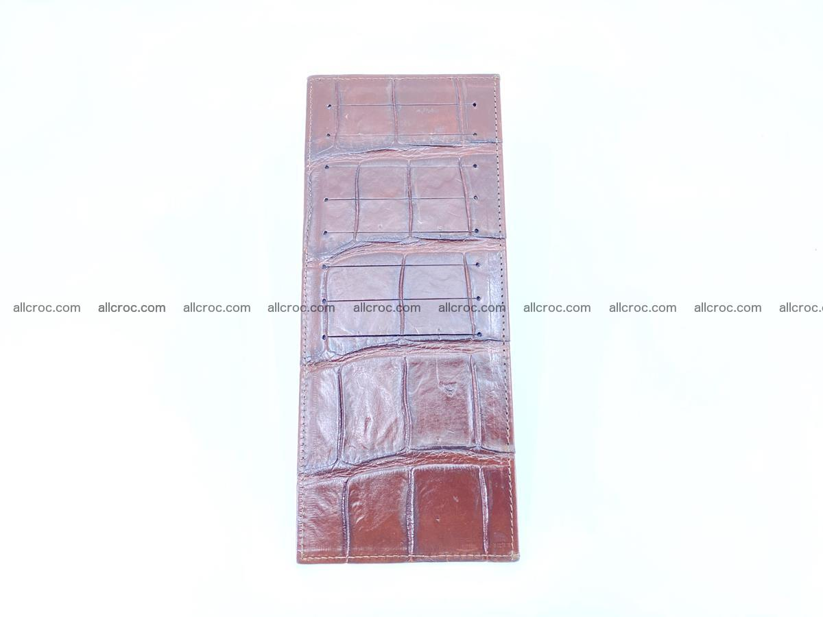 Crocodile leather vertical cards wallet 690 Foto 0