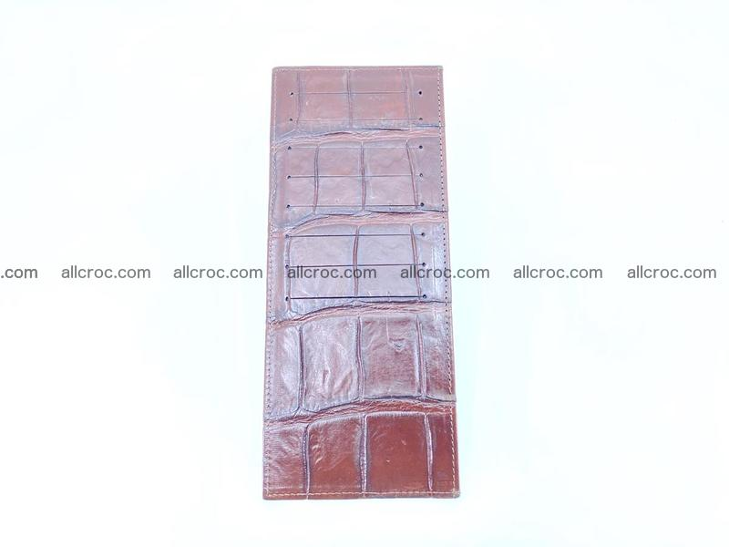 Crocodile leather vertical cards wallet 690