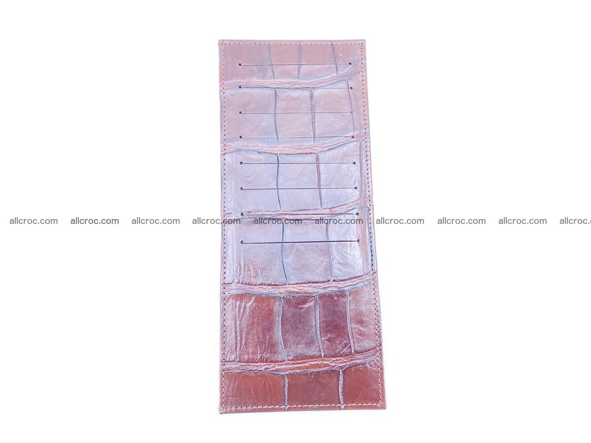 Crocodile leather vertical cards wallet 690 Foto 1