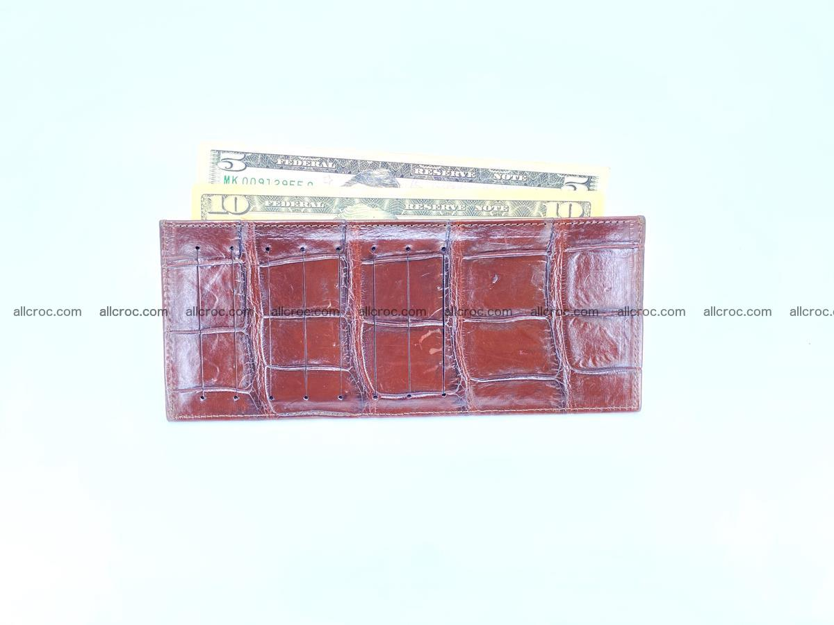 Crocodile leather vertical cards wallet 690 Foto 5
