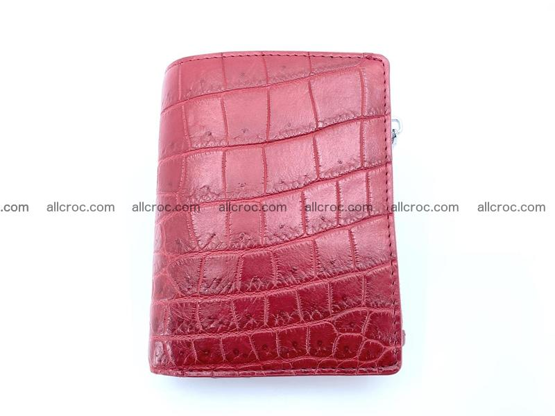 Crocodile leather vertical wallet HK 631