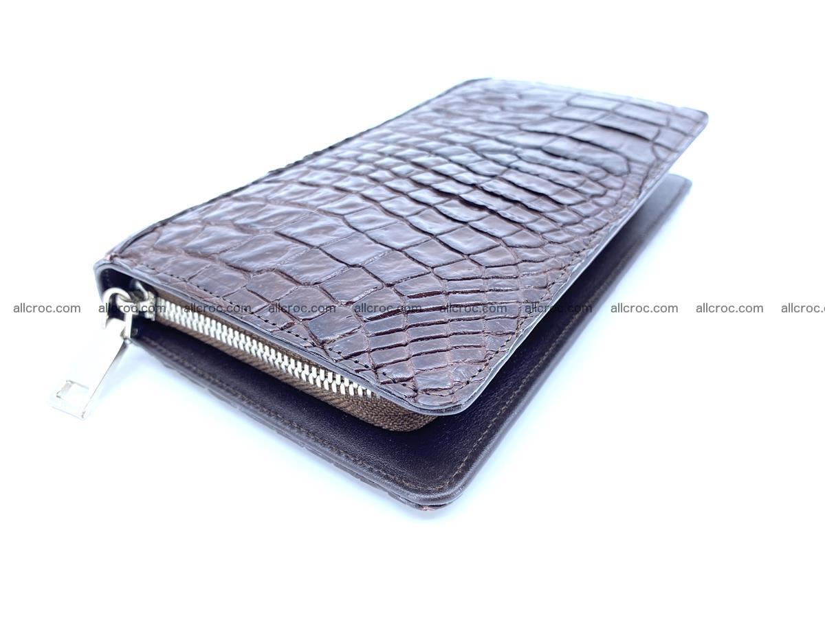 Crocodile skin zip wallet 608 Foto 1
