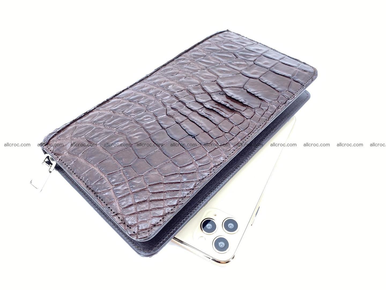 Crocodile skin zip wallet 608 Foto 0