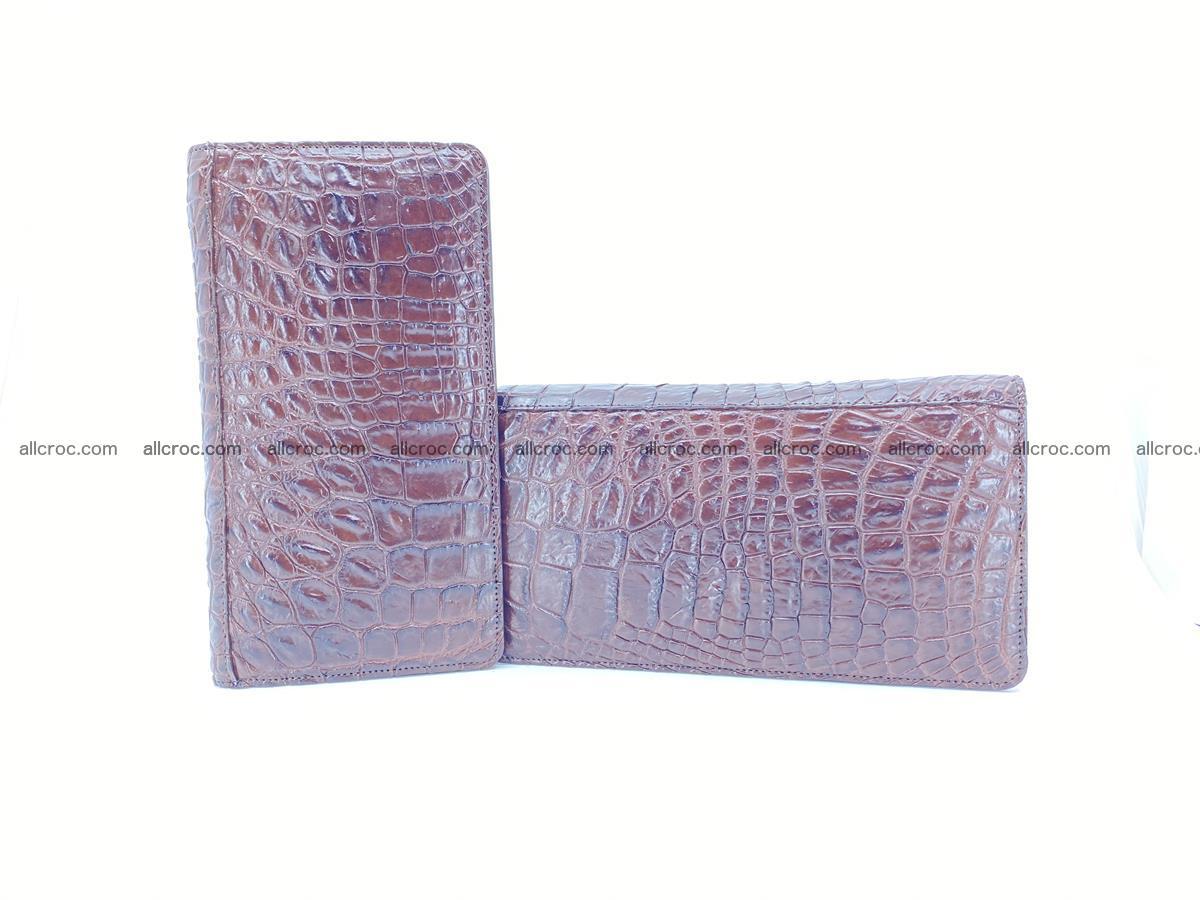 Crocodile skin zip wallet 608 Foto 12