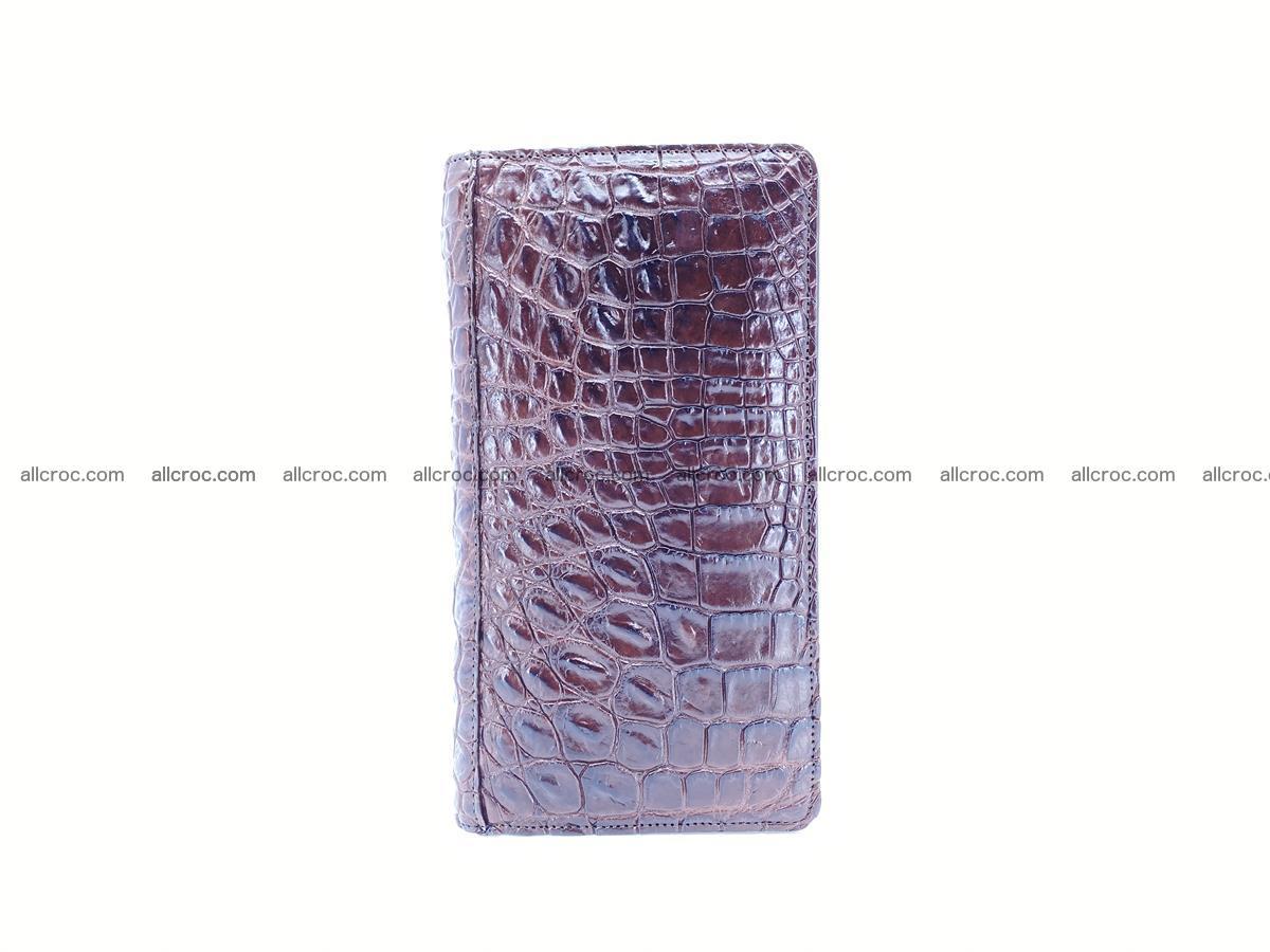 Crocodile skin zip wallet 608 Foto 7