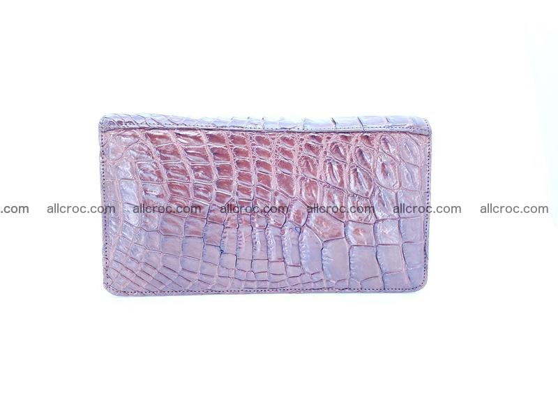 Crocodile leather wallet 1 zip 608