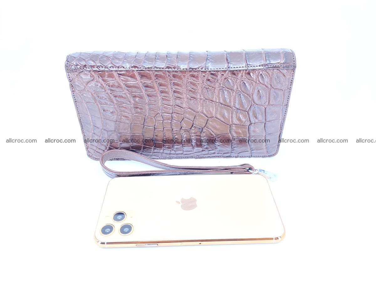 Crocodile skin zip wallet 608 Foto 4