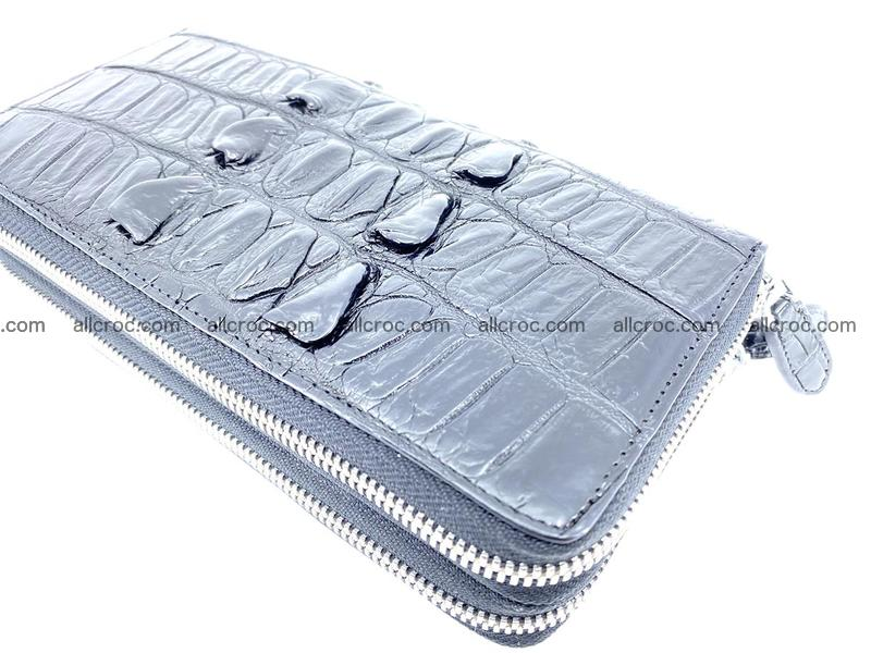 Crocodile leather wallet 2 zips 676