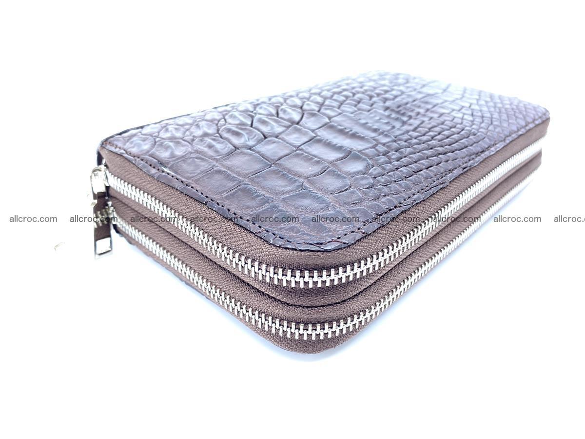 Crocodile skin wallet 2-zips 590 Foto 5