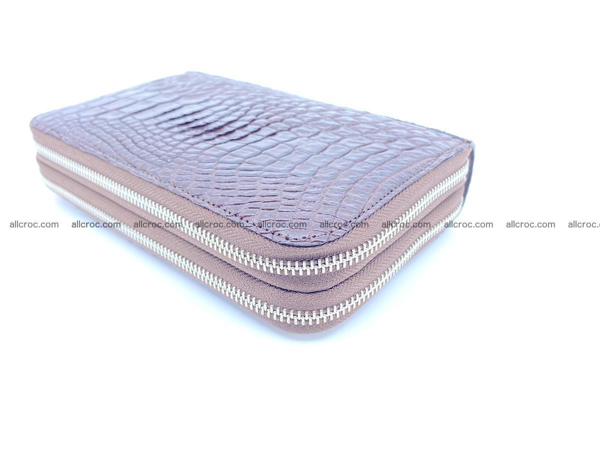 Crocodile skin wallet 2-zips 590 Foto 7