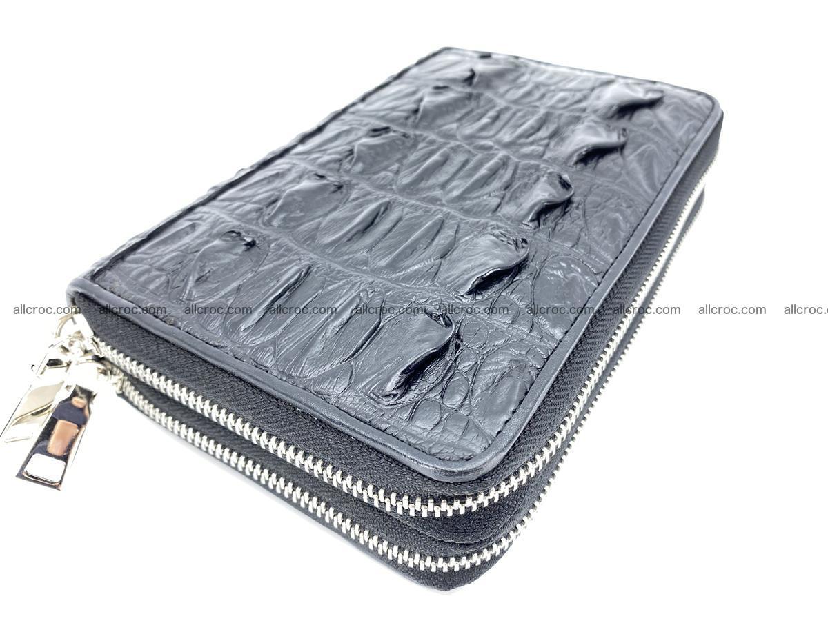 Crocodile skin wallet 2 zips 589 Foto 1