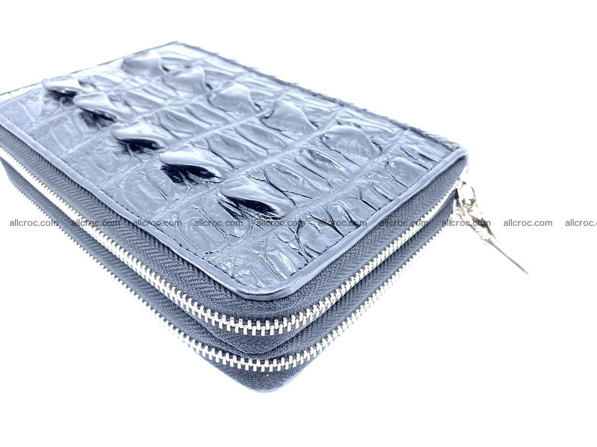 Crocodile skin wallet 2 zips 589 Foto 7