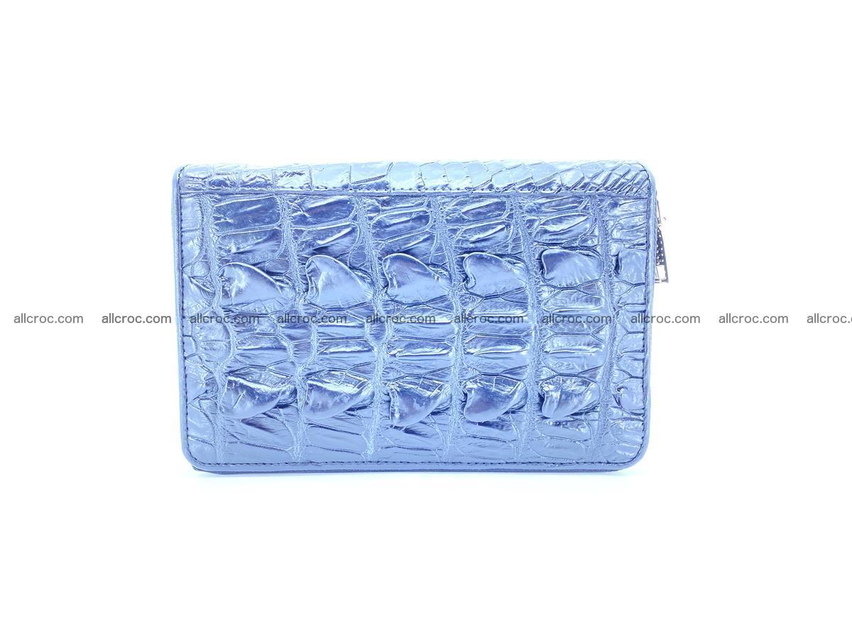 Crocodile skin wallet 2 zips 589 Foto 3