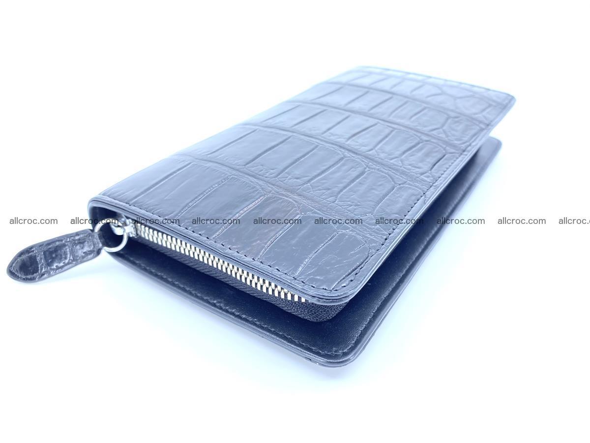 Crocodile skin zip wallet 612 Foto 0