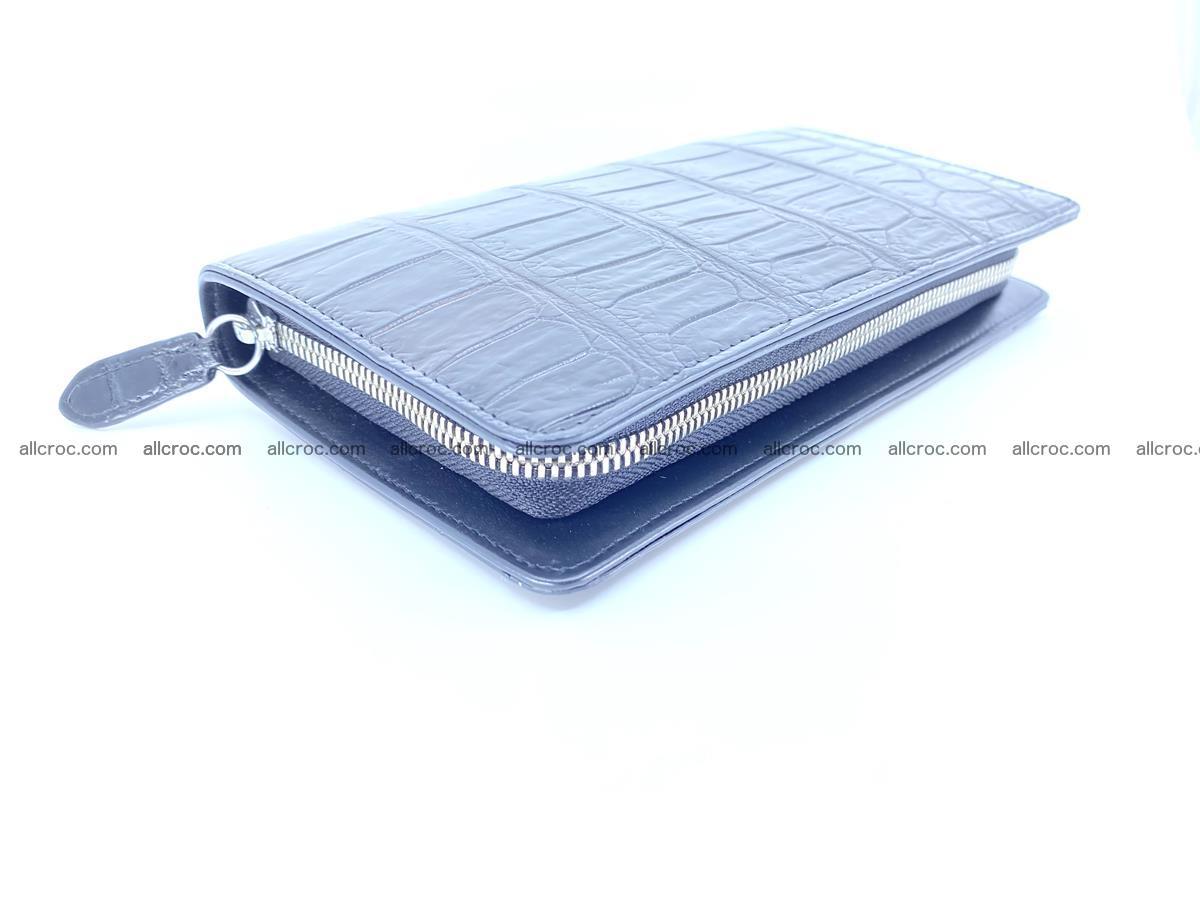 Crocodile skin zip wallet 612 Foto 8