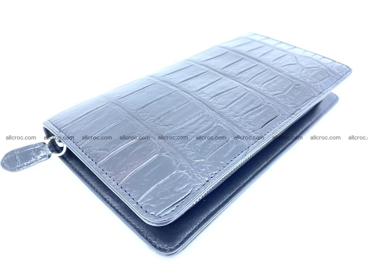 Crocodile skin zip wallet 612 Foto 9