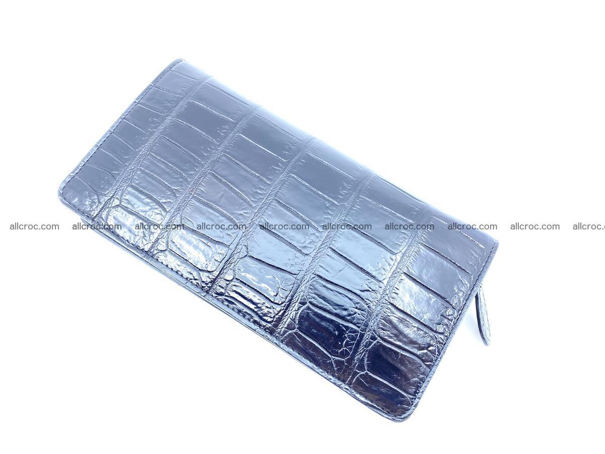 Crocodile skin zip wallet 612 Foto 3