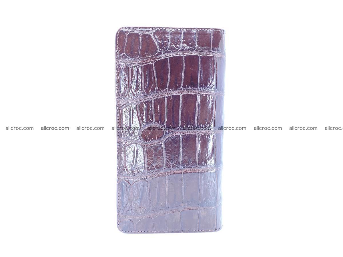 Crocodile skin zip wallet 611 Foto 4