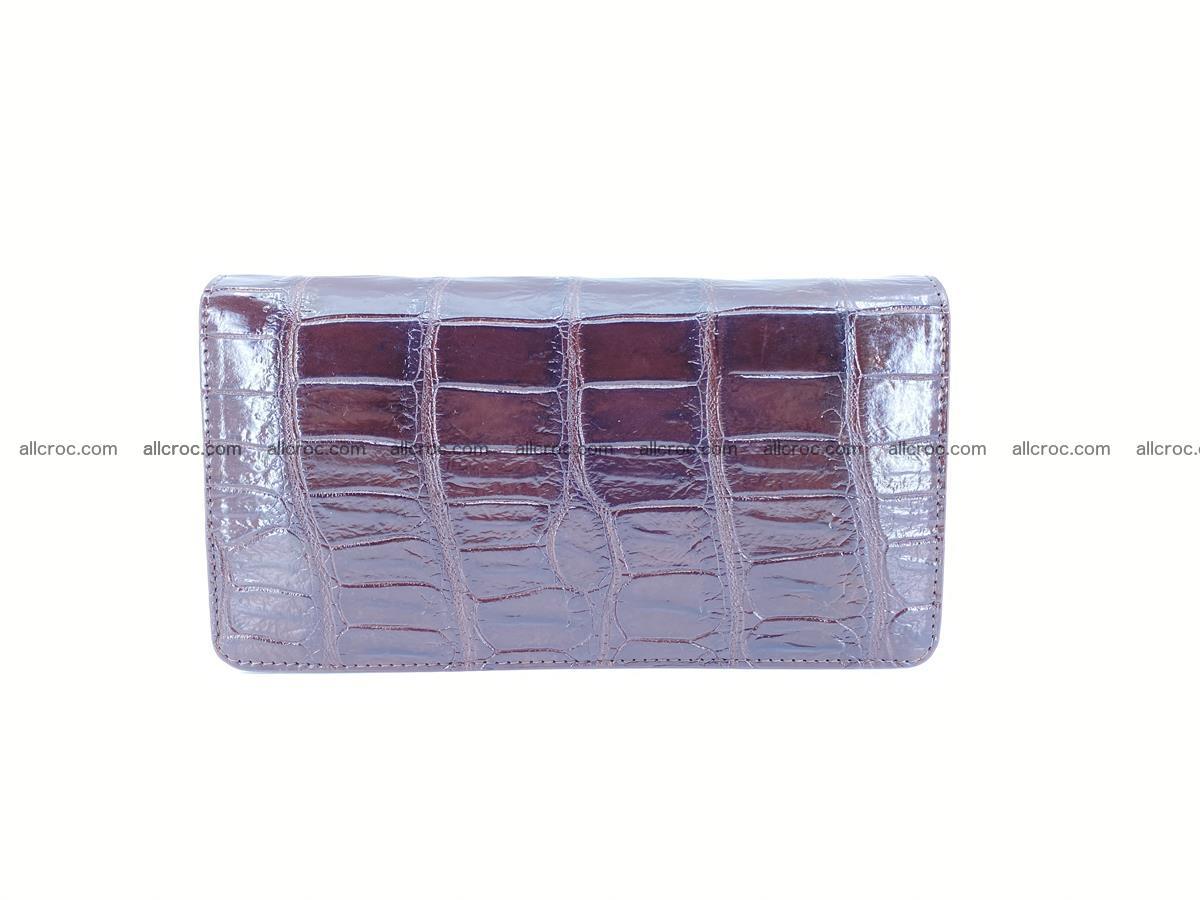 Crocodile skin zip wallet 611 Foto 1