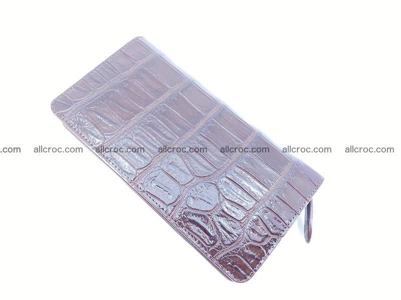 Crocodile leather wallet 1 zip 611