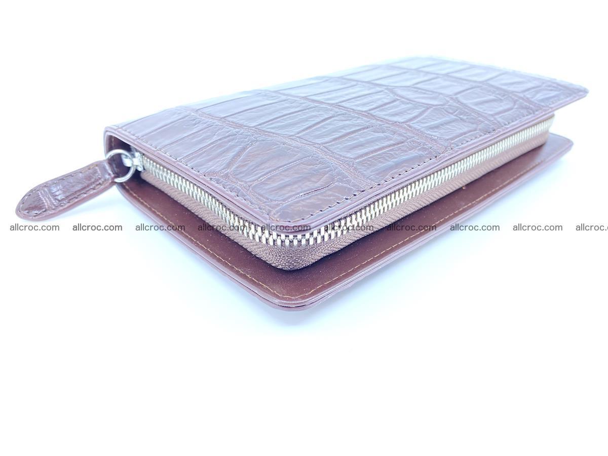 Crocodile skin zip wallet 611 Foto 9