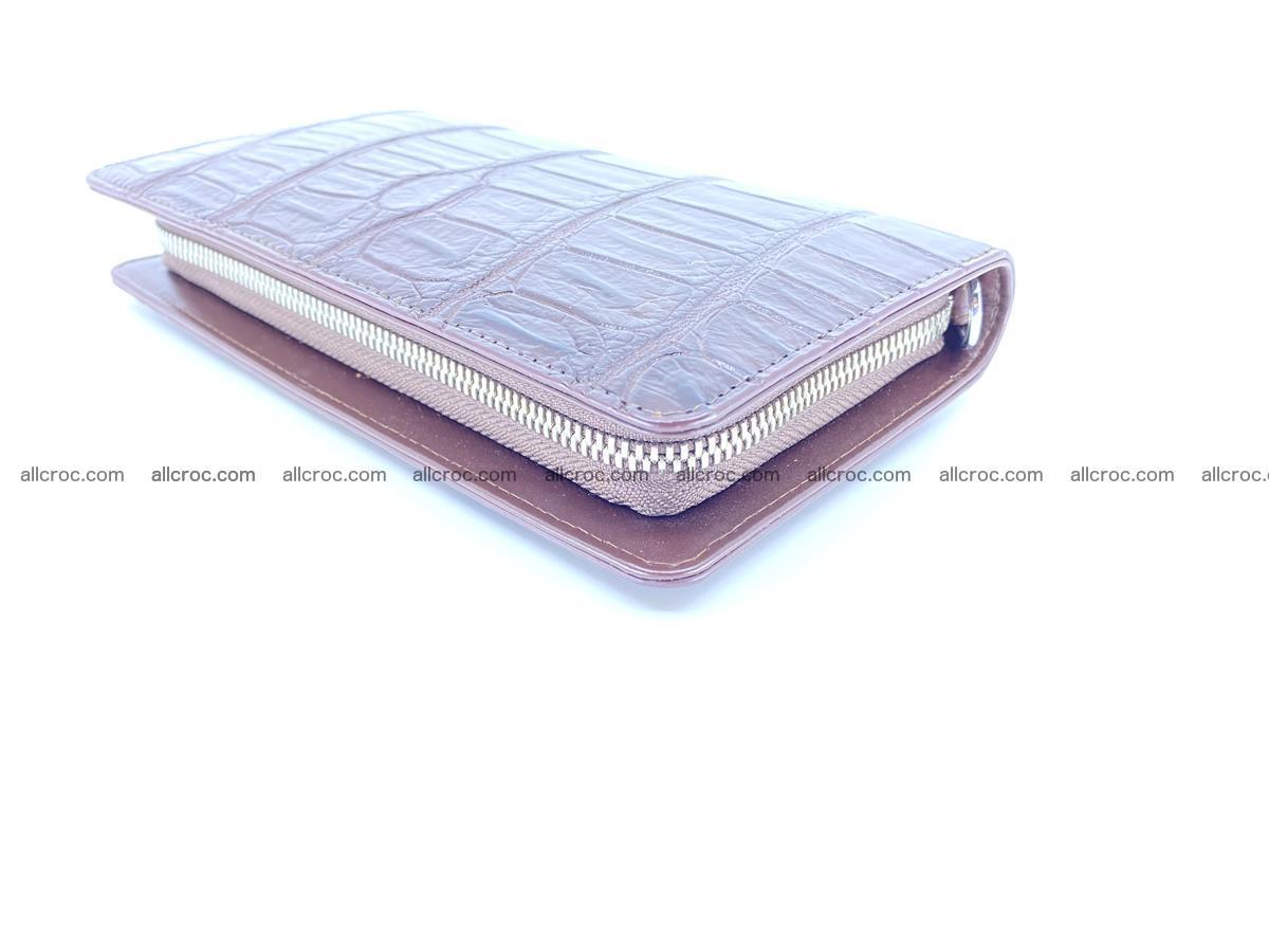 Crocodile skin zip wallet 611 Foto 8