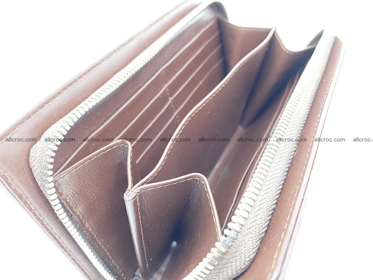 Crocodile skin zip wallet 611 Foto 13