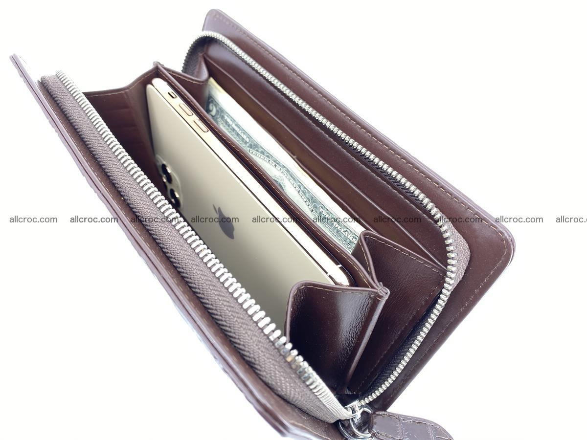 Crocodile skin zip wallet 611 Foto 15